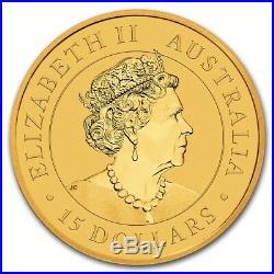 (10) CH/GEM BU 1/10 oz. 2019 $15 Gold Australian Kangaroo Coins 1/10 Ounce. 9999