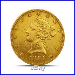 $10 Liberty Gold Eagle Coin Low Premium (Cleaned and/or Scratched) Random Date
