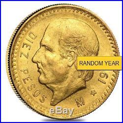 10 Peso Mexican Gold Coin (Random Year)