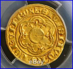 1423, Frankfurt, Sigismund of Luxembourg. Gold Gulden (Ducat) Coin. PCGS AU-53