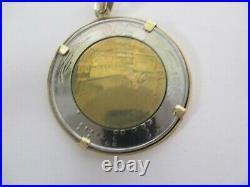 14k 585 Solid Gold L. 500 Repvbblica Italiana 1992 Lire Coin 8.8grams 1-7/16long