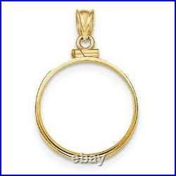 14k Yellow Solid Gold Screw top 20 Franc Lucky Angel Coin Bezel 21.0mm