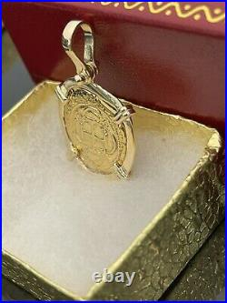 14kt Solid Gold Atocha Coin Pendant