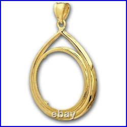 14kt Solid Gold For 1/4oz Gold Eagle Tear Drop Bezel 4grams $248.88