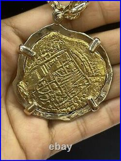 14kt Solid Real Gold Atocha Handmade Shipwreck Coin Pendant