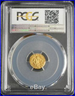 1698, Hungary, Emperor Leopold I the Hogmouth. Gold 1/6 Ducat Coin. PCGS MS66