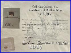 1715 FLEET GOLD RING PIECE Mel Fisher Cobb Coin Photo COA. HIGH KARAT / FANCY