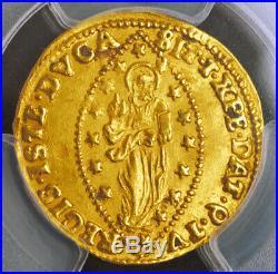 1778, Doges of Venice, Alvise IV Mocenigo. Gold Zecchino Ducat Coin. PCGS MS-62