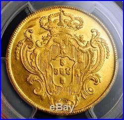 1792, Portugal, Maria I. Rare Gold 4 Escudos (Peca) Coin. (14.28gm!) PCGS MS-63