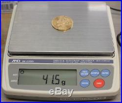 1821-1945 MEXICO GOLD 50 PESOS COIN 37.5 GRAMS 1.21 TROY OZ BULLION TOT WT41.5gr