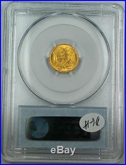 1854 $1 Dollar US Gold PCGS MS-62 Choice BU Coin Type 2 DGH