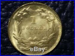 1860 $1 Dollar U. S. A gold coin