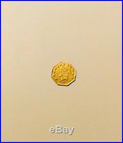 1864-G Octagonal $1 Dollar Liberty Head California Gold Coin BG-1016