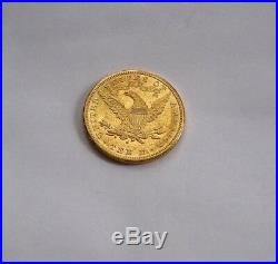 1881 S USA 10 Dollars Gold Eagle Coin Dollar Xf / Au