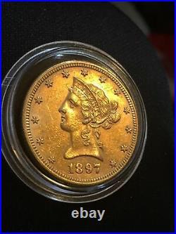 1897 Liberty Head 10 Dollar Gold Coin