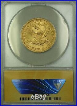 1899 $10 Ten Dollar Liberty Eagle Gold Coin ANACS MS-61