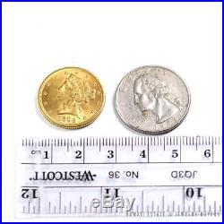 1899 Coronet Liberty Head Gold $5 Half Eagle Coin Excellent Condition