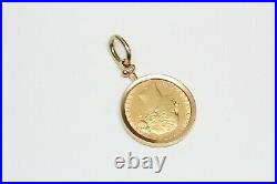 18k Solid Gold BRITISH SOVEREIGN Coin Pendant Dated 1878 Fine Quality