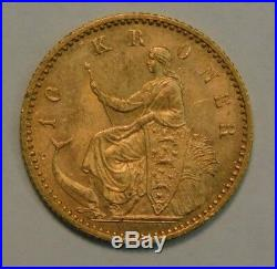 1900 Denmark 10 Kroner Mermaid Gold Coin For Christian IX Check Pics