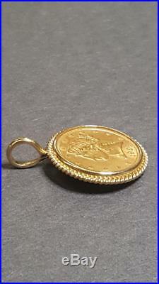1903-S $5 Coronet Liberty Head Gold Half Eagle Coin 14K Gold Bezel