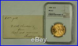 1904 $10 Liberty Gold Eagle NGC MS-63 Choice BU See Descrip (Better Coin) JMX