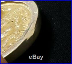 1904 U. S. Five Dollar Gold Coin In 14K Solid Yellow Gold Necklace Bezel Pendant