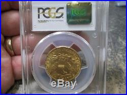 1907 10 Dollar Liberty Gold Coin In Pcgs Ms61 Uncirculated Condition