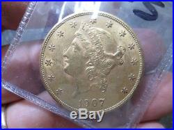 1907 S 20 DOLLAR LIBERTY GOLD COIN IN uncirculated CONDITION