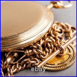1910 Cyma pocket watch 14ct Solid Gold + 5 Francs 1865 Coin Gold Breguet Numeral