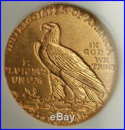 1911-D $2.50 Indian Quarter Eagle Gold Coin NGC MS-64 Very Choice UNC KEY DATE