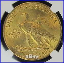 1912 $10 Gold Indian US Coin NGC MS64 Tougher Date High Grade 029 G