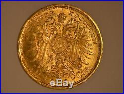 1912 Austria 10 Corona Gold Coin Franz Joseph I