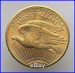 1913-d $20 Dollar Saint-gaudens Double Eagle Gold Coin
