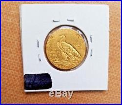 1914 D 1914-D Indian Head $2.50 GOLD Quarter Eagle U. S. Coin