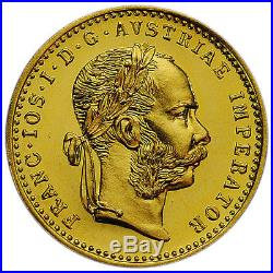 1915 Austria Gold 1 Ducat Coin. 1106 oz. AGW SKU30564