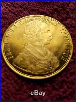 1915 Austrian 4 Ducat Solid Gold Coin. 449 Troy oz. 986 Fine