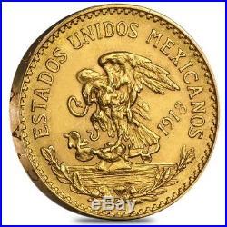 1918 Mexico 20 Pesos Gold Coin AU/BU