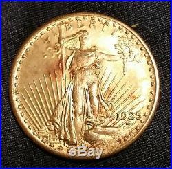 1925 $20 Us Gold Dollar Coin