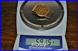 1947 Mexican 50 Pesos Gold Coin + Solid 14K Money Clip Total Weight 69.15 grams
