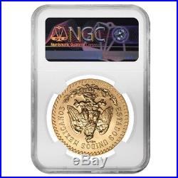 1947 Mexico 50 Pesos Gold Coin NGC MS 69