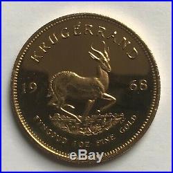 1968 Solid Gold 1oz Krugerrand Coin