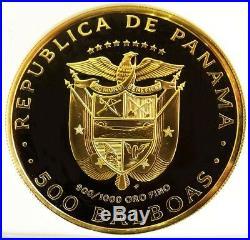 1977 Fm Gold Panama 500 Balboas 500th Anniversary Coin Ngc Proof 69 Ultra Cameo