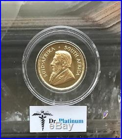 1980 Krugerrand, South Africa, 1/2 oz Fine Gold Coin DPGC12