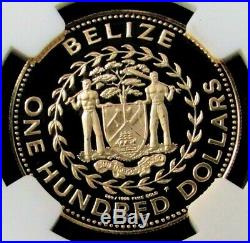 1984 Fm Gold Belize 965 Minted $100 White Tailed Deer Coin Ngc Proof 69 Uc