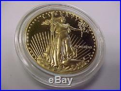1989 (MCMLXXXIX) U. S. American Eagle One Ounce Gold Fifty Dollar Coin $50 BU