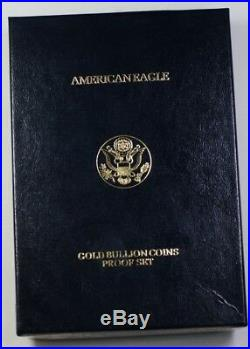1990 American Gold Eagle Proof Set AGE 4 Coins Total $5, $10, $25, $50 With COA