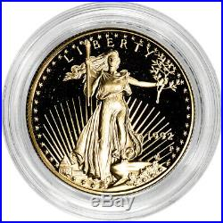 1992-P American Gold Eagle Proof 1/2 oz $25 Coin in Capsule