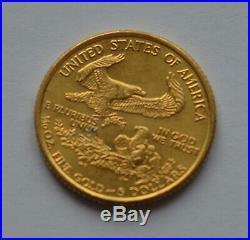 1994 USA $5 Five Dollars Liberty 1/10 Oz Gold Coin