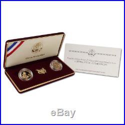 1997 US Gold $5 Franklin Delano Roosevelt 2-Coin Commemorative Proof & BU Set