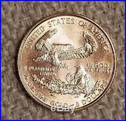 1999 1/10 oz Gold American Eagle $5 Coin